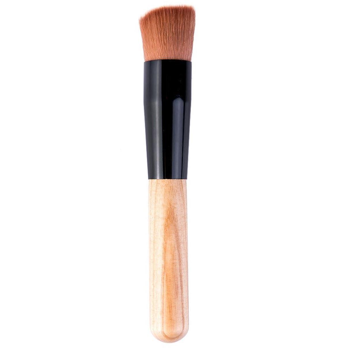に慣れもう一度テメリティ粉末化粧ツール木製ハンドル ブラシの化粧ブラシ財団パウダー プロフェッショナル財団ブラシ