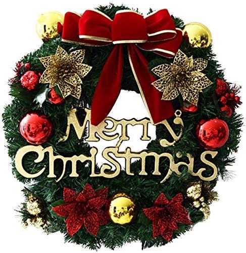 CHEPL Ghirlanda Nataliziadi Natale Ghirlanda di Decorazioni Natalizie Ghirlanda di Natale Porta appesa Regali di Natale Corona Anello di Vite di Natale per la Decorazione Interna ed Esterna