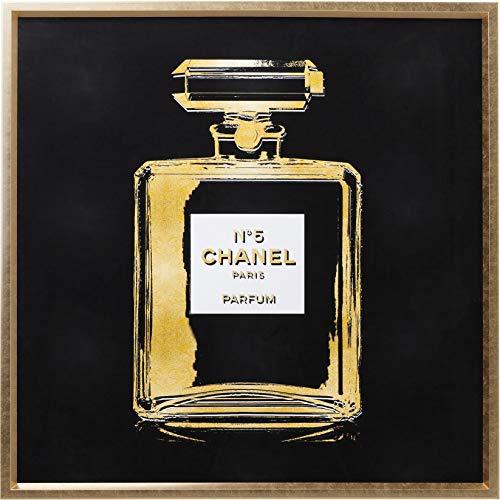 Kare Design Frame Fragrance 115x115cm, quadratisches Wandbild mit Bilderrahmen, cooles Bild mit modernem Mode Motiv, Modebild XXL, Wohnzimmer Deko, (H/B/T) 115x115x5cm, Stoff