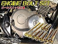 Z22-3 G-moto製 ホーネット250 対応 ステンレス製 ゴールドボルト 21本Set エンジンボルト ジェネレーターカバー クラッチカバー スターターカバー 等に