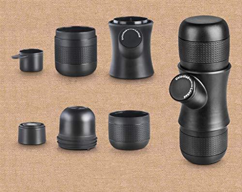 Koffie Machine/Capsule Draagbare Hand Koffie Machine Reizen Koffiemachine, Handmatig Bediend van Zuiger Actie Reizen/Binnen/Sport/Vliegtuigen Zwart