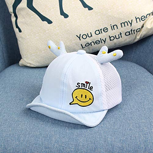 wtnhz Fashion items Thin net cap cute cartoon smiley face embroidery antler soft cap male and female baby hat