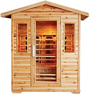 Cayenne 4 Person Infrared Sauna - Natural Canadian Hemlock Wood - 7 Year Structural Warranty by Saferwholesale