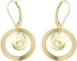 forme di Lucchetta per Donna - Collana Orecchini o Bracciale in Oro Giallo con Dischi Effetto 3D
