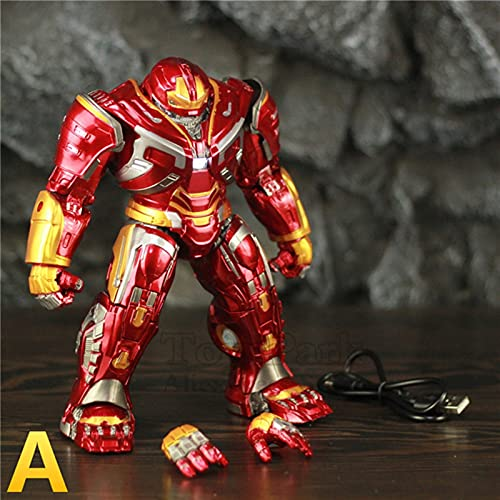 LIANGLMY Figur Hulk Buster Mark44 22cm Action Figure LED-Licht Tony Stark Iron Man Legends Endgame Spielzeug Puppe (Color : A - Loose)