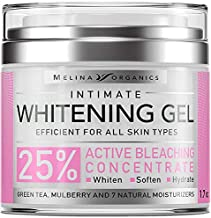 Bleaching Cream for Intimate Areas - Made in USA - Potent Whitening Cream with Arbutin (Glycosylated Hydroquinone), Hyaluronic Acid & Aloe Vera - Dark Spot Remover for Body & Skin Lightener - 1.7 Oz