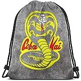Zome Lag Mochila Con Cordón,Drawstring Bolsa De Gimnasio,Cobra Kai Logo Cinch Bags...