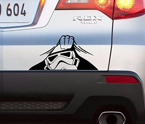 4X4 Car Sticker Peeking Stormtrooper Funny Decal 4Wd