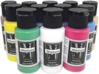 Badger Air-Brush Company Minitaire 12-Color Paint Starter Set