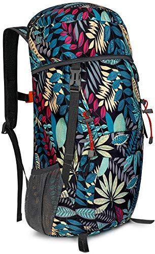 G4Free 40L Wasserdichter Ultraleicht Faltbarer Trekkingrucksack Daypack Damen Herren für Outdoor Wandern Camping Reisen