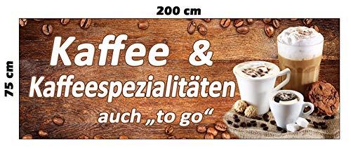 Banner koffie 200 x 75 cm