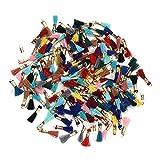 Weanty Lot de 100 Mini pendentifs avec Anneau de Saut pour Bracelets, Boucles d'oreilles, Accessoires de vêtements, Sac de décoration (Couleur aléatoire)