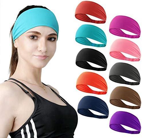 DASUTA Cheap Set of Direct store 10 Women's Workout Headband Lightweight Non M Slip