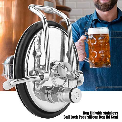 YGMX Karbonisierung Keg-Art-Haus Brauen Beer Barrel Carbonized Abdeckung Mit 0,5 Micron Diffusion Stone Home Brewed Werkzeuge,Keg Lid