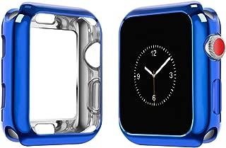 top4cus Environmental Soft Flexible TPU Anti-Scratch Lightweight Protective 42mm Iwatch Case Compatible Apple Watch Series 5 Series 4 Series 3 Series 2 Series 1 - Royal Blue