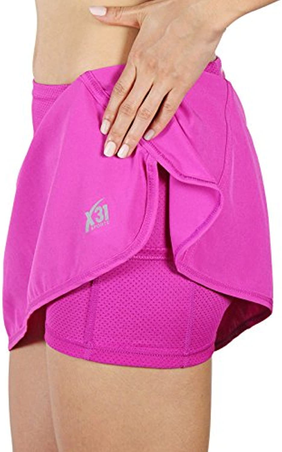 X31 Sports Running Skirt, Skort with Shorts and Zipper Pocket
