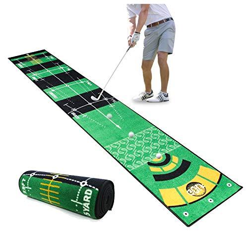 Qdreclod Golf Putting Matte 0.5 * 3M, Professionelles Multi-Angle Golf Übungsmatte, Heimgolf Tragbare Puttingmatte, Golf Trainingsmatte Für Drinnen, Innenhof Im Freien