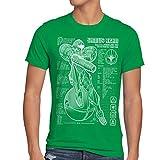 A.N.T. Samus Bleu T-Shirt da Uomo Metroid Nerd Gamer NES Snes Switch, Dimensione:S, Colore:Verde