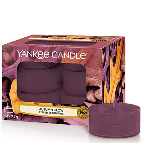 Yankee Candle candeline profumate tea light   Incandescenza d'autunno   12 pezzi
