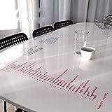 HOHOFILM Adhesivo transparente para pizarra blanca, borrado en seco, película de seguridad, 122 x 200 cm