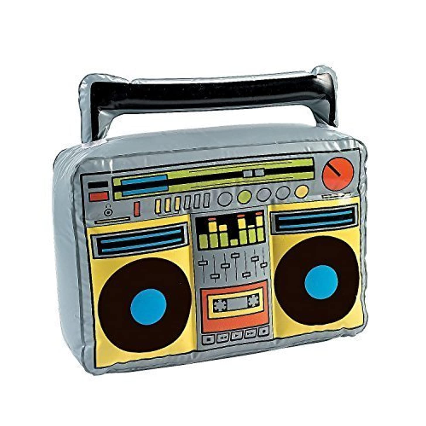 Fun Express - Inflatable Boom Box, (18 inches) (4-Pack)