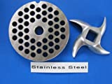 Smokehouse Chef Hamburger Meat Grinder Grinding Plate and Knife