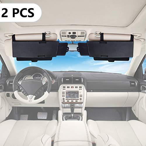 Spurtar Sun Visor Extender (2Pc) Polarized Sunvisor Sun Shade Extender with Polycarbonate Lens, Anti-Glare Car Sun Visor Protection from Sun Glare, Snow Blindness, UV Rays for Universal Cars, SUVs