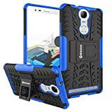Bracevor Hybrid Back Cover Kickstand Case for Lenovo Vibe K5 Note - Blue | Rugged Defender