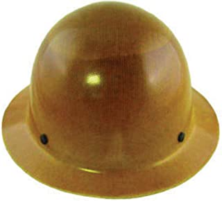 MSA (Mine Safety Appliances) 454664 Tan Skullgard Phenolic Full Brim Hard Hat with Staz On 4 Point Pinlock Suspension, English, 15.34 fl. oz, Plastic, 7.4