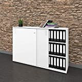 Schiebetürenschrank Sideboard NOVA 3OH 1.640 x 1.085 mm in Weiß
