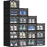 YITAHOME Shoe Storage Box-Medium Size, 18 PCS Shoe Storage Organizers...