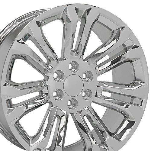 OE Wheels LLC 22 inch Rim Fits Chevy Silverado Wheel CV43 22x9 Chrome Wheel Hollander 5666