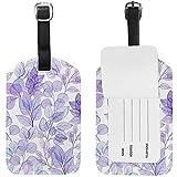 Etichetta per bagaglio in valigetta con Foglie di Violetta ad acquerello Bag Valigetta per bagaglio Etichetta 1 Pezzo 687795-LGT-2554