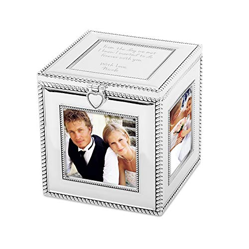 Things Remembered Personalized Silver Cube 3.5 x 3.5 Picture Frame with Engraving Included