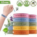 fuansheng Mückenschutz Armband 12 Stück, Mückenarmband 100% Natürlich, Mücken Armband, Insektenschutz Armbänder,Mücken Insektenabwehrmittel Armband für Kinder, Erwachsene, Outdoor und Indoor