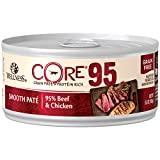 Wellness Core 95% Natural Grain Free Wet Canned Cat Food, Beef & Chicken, 5.5-Ounce Can (Pack Of 12)