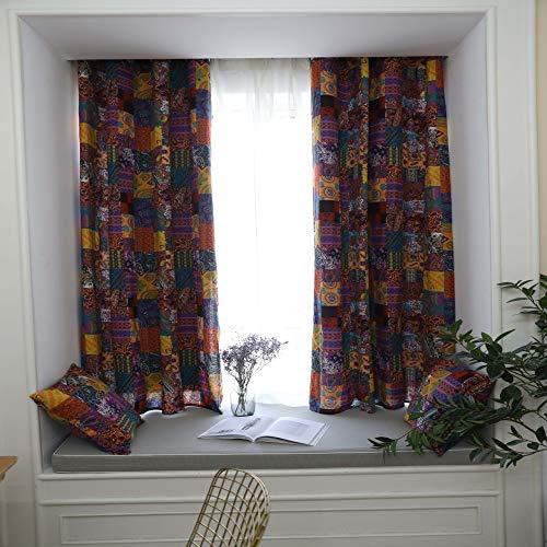 CXL Vorhang Bohemian Retro ethnischen Stil Wohnzimmer Studie Baumwolle und Leinen Halbschatten Vorhänge tragen Stange