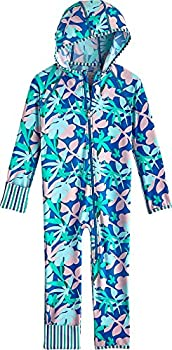 Coolibar UPF 50+ Baby Flipper 360 Coverage Swimsuit - Sun Protective  18-24 Months- Marlin Blue Palm Camo