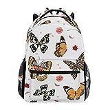 春夏花の花蝶バックパックスクールバッグラップトップカジュアルバッグ男の子女の子子供