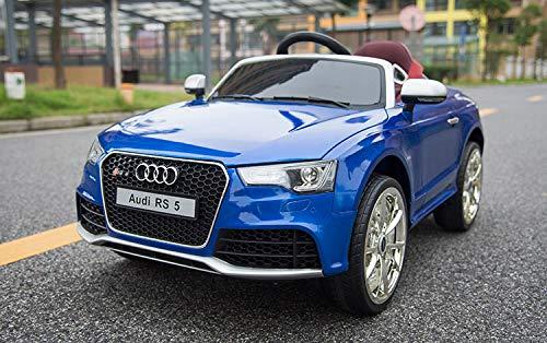 Audi RS 5 - XXL Kinderauto Elektroauto Kinderfahrzeug E-Auto - LED, Leder, Fernbedienung, Akku, Cabrio Verdeck - Blau-Metallic