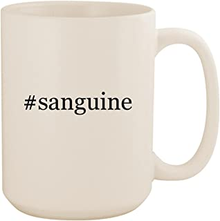#sanguine - White Hashtag 15oz Ceramic Coffee Mug Cup