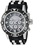 Invicta 24167 Men's Jason Taylor Grey Carbon Fiber Dial Steel & Polyurethane Strap Chrono Dive Watch