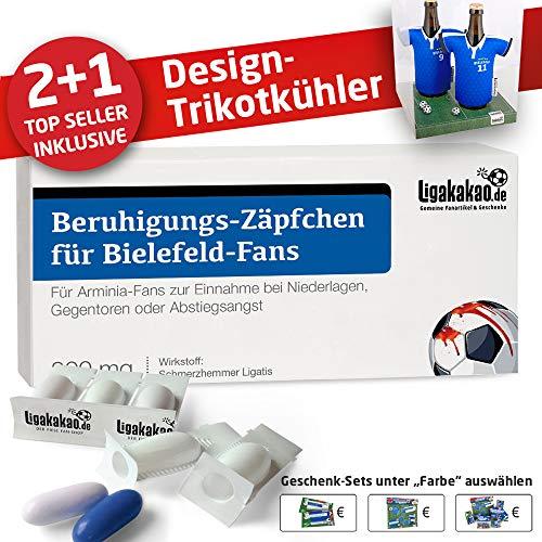 Alles für Bielefeld-Fans by Ligakakao.de Home-Trikot ist jetzt Mein TRIKOTKÜHLER Geschenk-Set (2X Trikots + 1 ZÄPFCHEN)