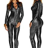 Mujeres Skinny Clubwear Dancewear Hollow out Playsuit One Piece Fancy Cosplay Catsuit Juego de Roles Vestirse,Gris,XXL