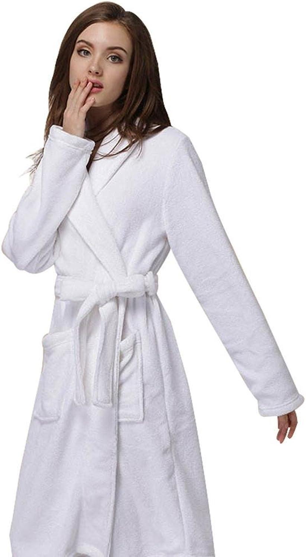 DMMSS Ladies Gown Autumn And Winter Coral Velvet Pajamas Warm Home Service Hotel HighEnd Luxury Bathrobes
