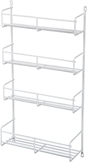 Knape & Vogt SR18-1-W Door-Mounted Spice Rack Cabinet Organizer, 20-Inch by 13.81-Inch by 3.94-Inch