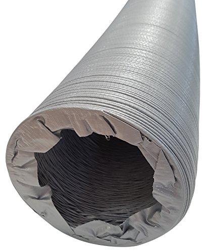 Lüftungsschlauch Klimaschlauch DN 80 100 125 150 160 180 200 mm, Länge 10 m gestaucht auf 0,6 m vollflexibel mit Drahtspirale Schlauch fängt langfristig Schwingungen ab