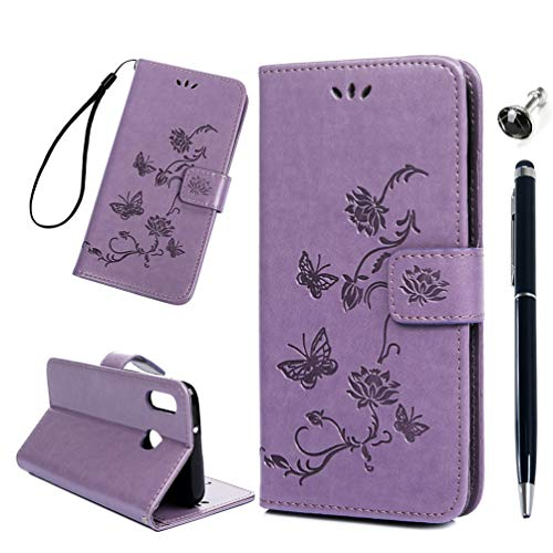 Vogu'SaNa M20 - Funda de piel sintética para Samsung Galaxy M20, diseño de flor de loto