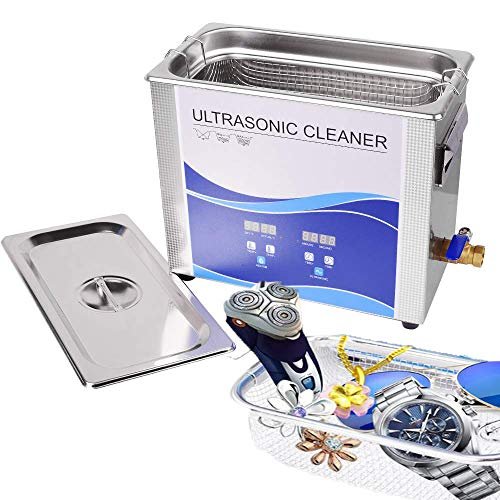 Digital Ultrasonic Cleaner 10L 240W/300W Professional Ultrasonic Cleaner with Timer and Heating Bath for Hardware Fuel Injector Nail Dental Watches Glasses Coins Tool Part Remove Carbon