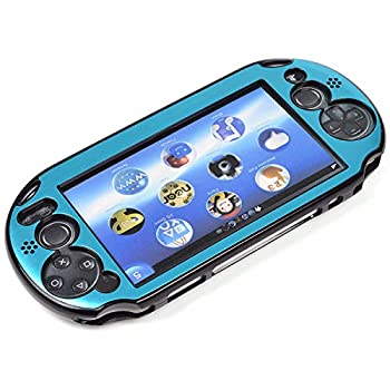 Cosmos Light Blue Aluminum Metallic Protection Hard Case Cover for Playstation PS VITA 2000  NOT for vita 1000 Series